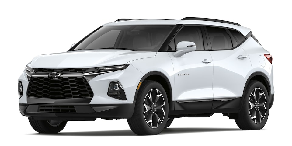 Chevrolet Blazer 2020, SUV mediana en color blanco